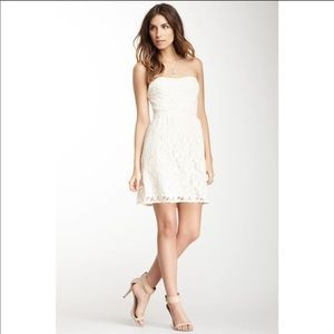 Free People Ivory I Heart Lace Strapless Dress